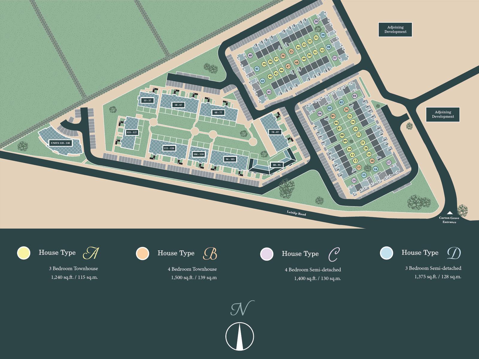 Carton Grove Site Map